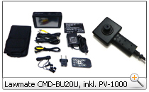 Lawmate CMD-BU20U, inkl. Lawmate PV-1000Touch5U DVR